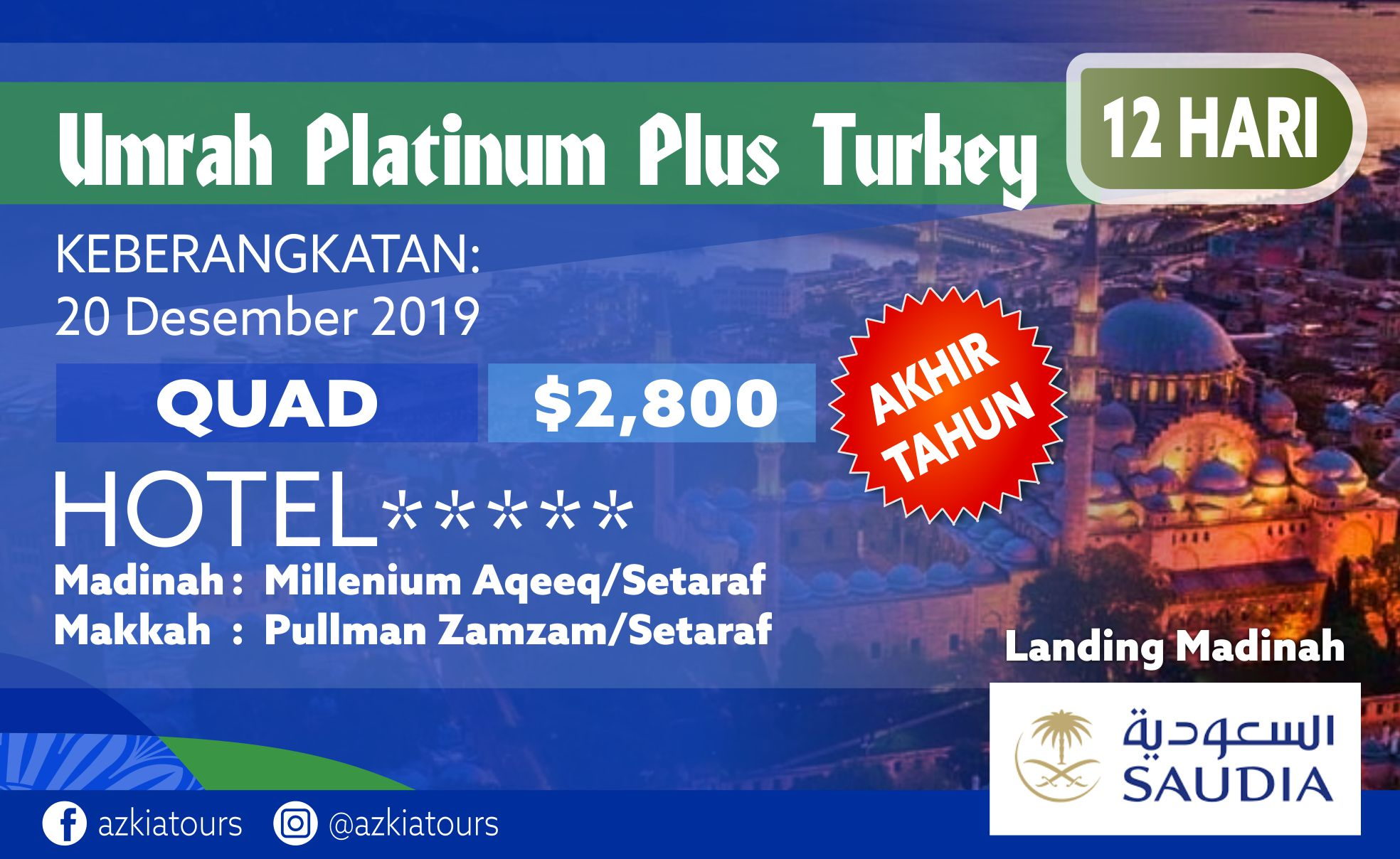 Umrah Platinum Plus Turkey